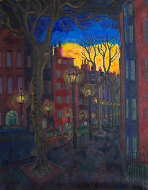 Chestnut St Sunset